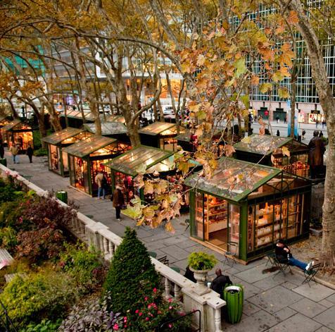 Xmas markets Bryant Park