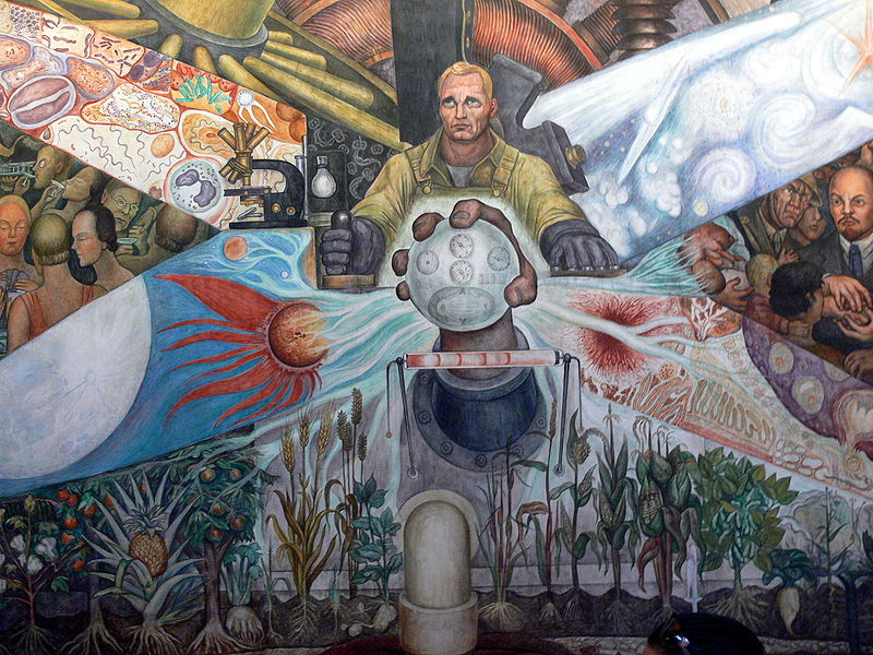 30 the controversial rockefeller mural 1000 things to for Mural diego rivera