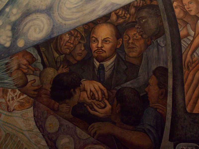 30 the controversial rockefeller mural 1000 things to for Diego rivera mural at rockefeller center