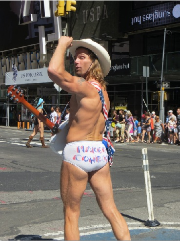 The naked cowboy in new york